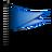 flag, blue icon