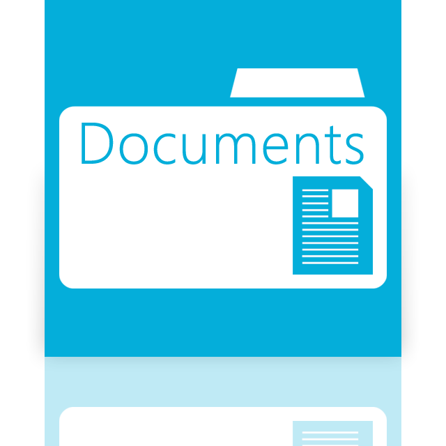 folder, documents, mirror icon