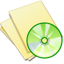 yellow, file, document, music, paper icon