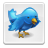 file, bird, button, twitter, blue icon