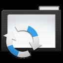 Folder Dark Arrows icon