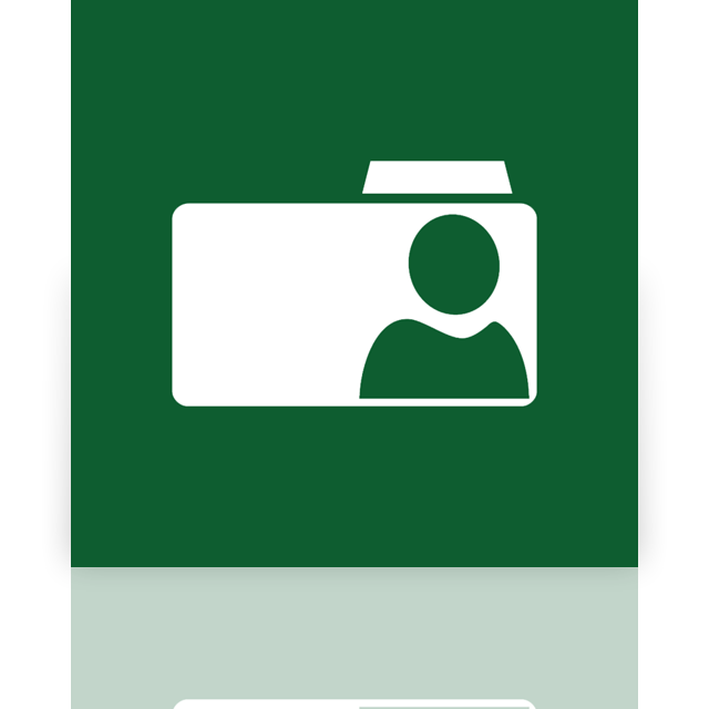 user, folder, mirror icon