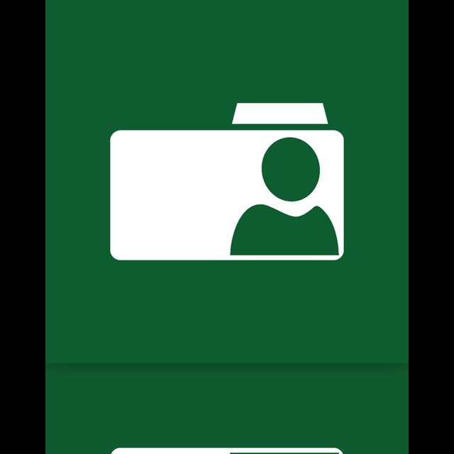 user, folder, mirror icon
