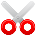 scissor, cut icon