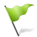 Map Marker Flag 5 Chartreuse icon