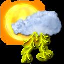 storm, sun icon