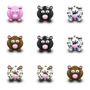 WE Love Cows icon sets preview