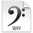 file, z, wav icon