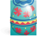 red, green, easter, egg icon
