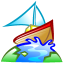world, boat, browser, earth icon