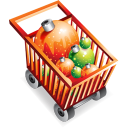 shopping, cart, commerce, christmas, buy, shopping cart icon
