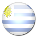 uruguay, country, flag icon