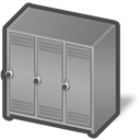 locker, dis icon