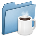 Blue, Coffee icon