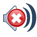 speaker, mute, sound icon
