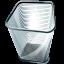 recycle, empty, blank, bin icon
