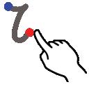 lowercase, i, letter, gestureworks, stroke icon