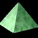 green, nephritis, gem, jewel, precious, pyramid, axestone, jade, stone, greenstone, nephrite icon