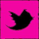 twitter, ink, social, media, pen icon