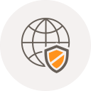 browser, world, globe, safety, internet, shield, security icon