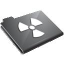 radioactive, grey icon