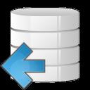 database arrow left icon