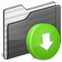 Drop Box Folder black icon