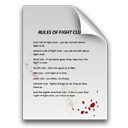 rule, paper, file, blood, fight, fight club, club, document icon