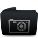 Black, Folder, Photos icon