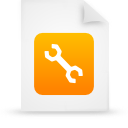 orange, document, file, paper icon