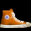 converse,orange,dirty icon
