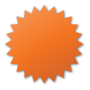red, label icon