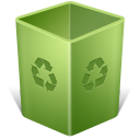 empty, recycle bin, trash, blank icon
