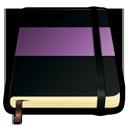 violet, moleskine icon
