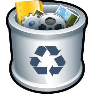 folder, recycle bin, trash, full icon