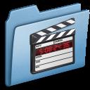 film, movie, video, blue icon