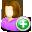 female, add, user icon