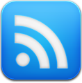 Blue, Google, Reader icon