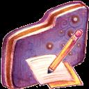 Folder, Note, Violet icon