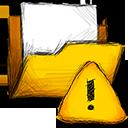folder, error icon