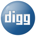 social digg button blue icon