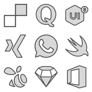 Brands Filled icon sets preview