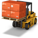 Boxes, Forklift icon