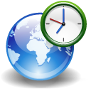 clock, world, internet, earth icon