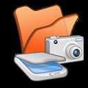 , &Amp, Cameras, Folder, Orange, Scanners icon