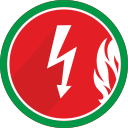 flame, spark, fire, electric, electricity, lightning icon