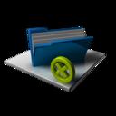 Blue Folder Full Delete icon