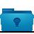 Blue, Folder, Ideas icon