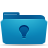folder, idea, blue icon