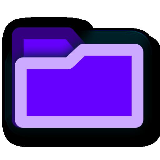 deep, folder, purple icon